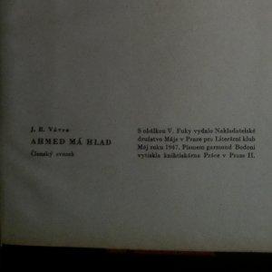 antikvární kniha Ahmed má hlad, 1947