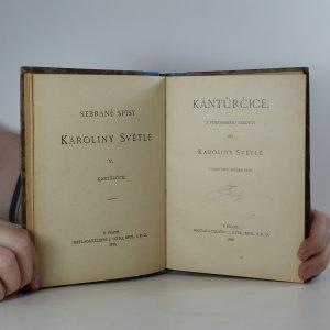 antikvární kniha Kantůrčice, 1925