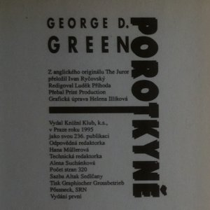 antikvární kniha Porotkyně, 1995
