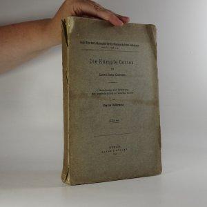 náhled knihy - Die Kämpfe Gottes (Schriften der Lehranstalt für die Wissenschaft des Judentums, svazek V., Sešit 2)