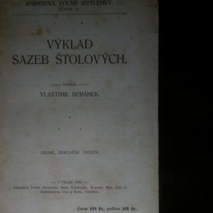antikvární kniha Výklad sazeb štolových, 1909
