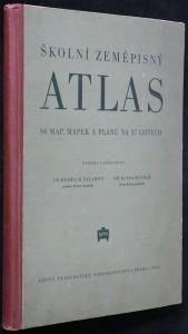 náhled knihy - Školní zeměpisný atlas : 94 map, mapek a plánů na 37 listech