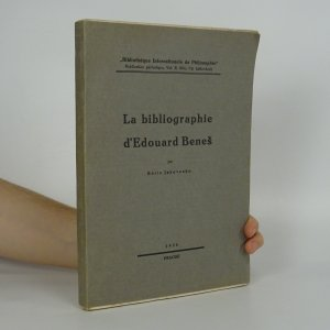 náhled knihy - La Bibliographie d'Edouard Beneš