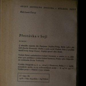 antikvární kniha Přestávka v boji, 1962