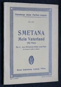 náhled knihy - Smetana Mein Vaterland (Má Vlast) no. 4 Aus Bohmens Hain und Flur (Z Českých luhů a hájů)
