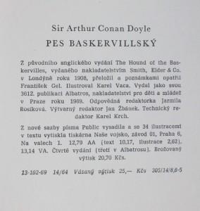 antikvární kniha Pes baskervillský : další dobrodružství Sherlocka Holmese, 1969