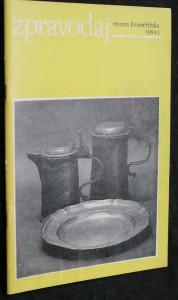 náhled knihy - Zpravodaj muzea kroměřížska 1984 č.1