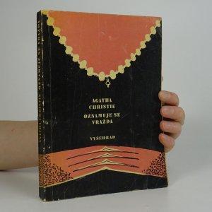 náhled knihy - Oznamuje se vražda
