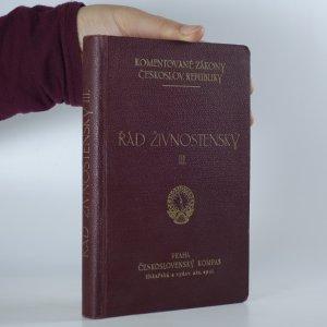 náhled knihy - Řád živnostenský (III. díl)
