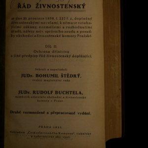 antikvární kniha Řád živnostenský. Díl II. Ochrana dělnictva a jiné předpisy řád živnostenský doplňující., 1933