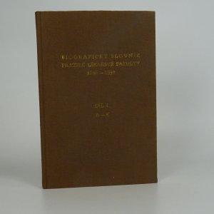 náhled knihy - Biografický slovník pražské lékařské fakulty 1348-1939. Díl 1. A-K