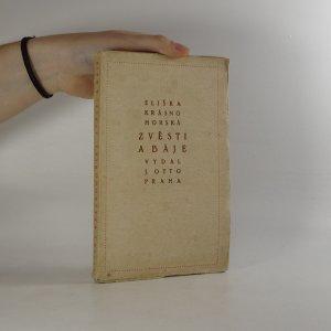 náhled knihy - Zvěsti a báje