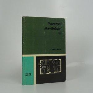 náhled knihy - Pozemní stavitelství III