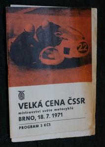 náhled knihy - Velká cena ČSSR, mistrovství světa motocyklů. Brno, 18.7. 1971
