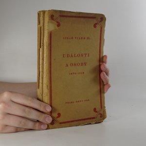 náhled knihy - Události a osoby. 1878-1918