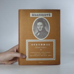 náhled knihy - Stendhal. Výbor z díla III.