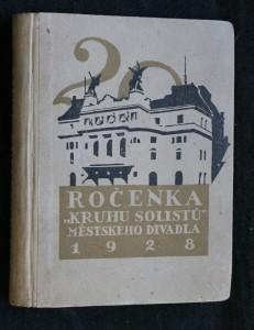 náhled knihy - Ročenka kruhu solistů městského divadla