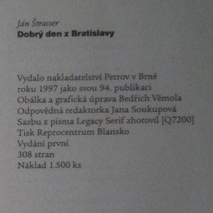 antikvární kniha Dobrý den z Bratislavy : fejetony z Lidových novin a texty písní z pořadu Milana Markoviče Na šikmé ploše, 1997