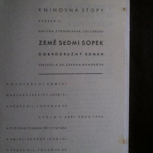 antikvární kniha Země sedmi sopek, 1936