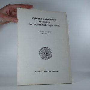 náhled knihy - Vybrané dokumenty ke studiu mezinárodních organizací