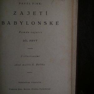 antikvární kniha Zajetí babylonské : Román zajatce. díl I., neuveden