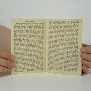 antikvární kniha Boží soud, neuveden