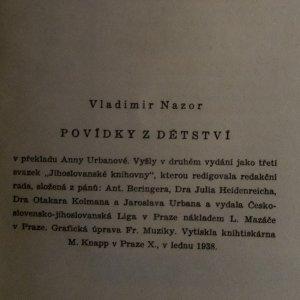 antikvární kniha Povídky z dětství, 1938