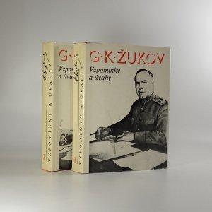 náhled knihy - Vzpomínky a úvahy