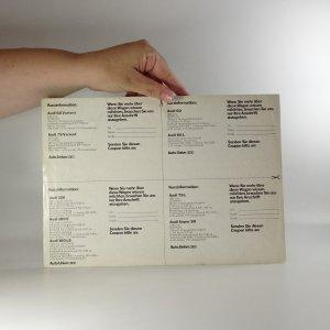 antikvární kniha Prospekt Audi Programminformation 69, 1969