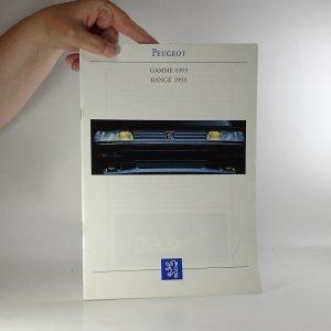 náhled knihy - Prospekt Peugeot. Gamme 1993. Range 1993