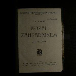 antikvární kniha Kozel zahradníkem a jiné črty, 1927