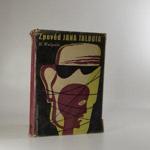 náhled knihy - Zpověď Jana Talbota