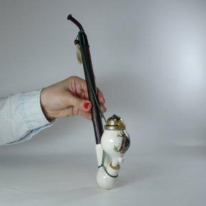 náhled knihy - Dýmka (fajfka) porcelánová s mysliveckým motivem, nekouřená