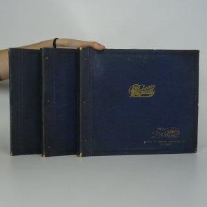 náhled knihy - Tři alba s 15-ti šelakovými deskami (podrobně nafoceno)