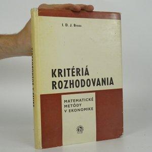 náhled knihy - Kritériá rozhodovania