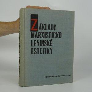 náhled knihy - Základy marxisticko-leninské estetiky