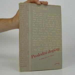 náhled knihy - Poslední dopisy