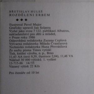 antikvární kniha Rozděleni erbem, 1986