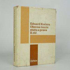 náhled knihy - Obecná teorie státu a práva, II. díl