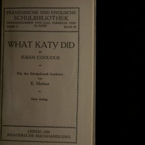 antikvární kniha What Katy did, 1929
