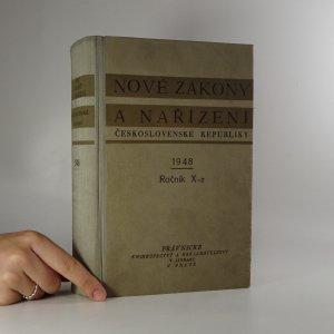 náhled knihy - Nové zákony a nařízení Československé Republiky. Ročník X. 1948