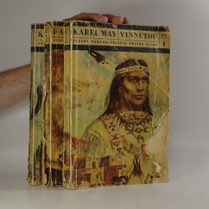 náhled knihy - Vinnetou (3 díly ve 3 svazcích) (kniha je cítit kouřem)