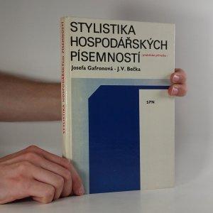 náhled knihy - Stylistika hospodářských písemností