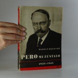 náhled knihy - Pero mi zůstalo. 1938-1945.