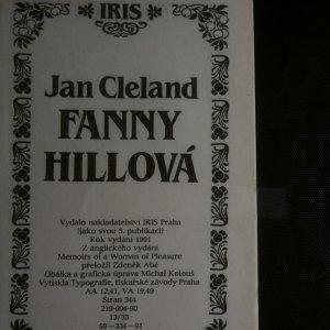 antikvární kniha Fanny Hillová. Memoáry kurtizány, 1991