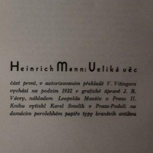 antikvární kniha Velká věc (2 knihy v jednom svazku), 1932