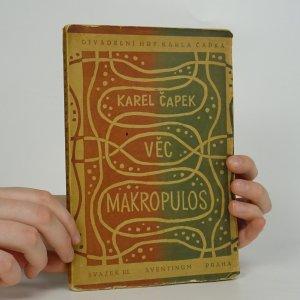 náhled knihy - Věc Makropulos (1. vydání)