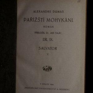 antikvární kniha Pařížští Mohykáni I-IX. díl (9 svazků), 1923-1924