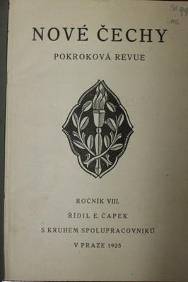 náhled knihy - Nové Čechy : pokroková revue politická, sociální a kulturní