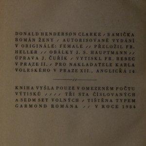antikvární kniha Samička : román ženy, 1934